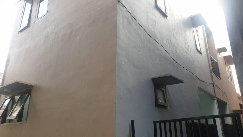 Rumah baru dikontrakkan dengan pemandangan kota di lantai 3