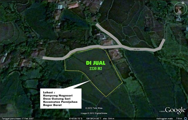 Di Jual Tanah/ Kavling Desa Gunung Sari Pamijahan - Bogor