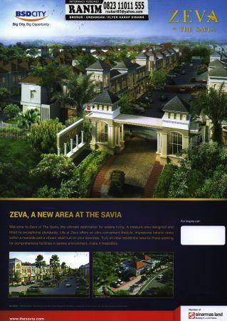 BOOK NOW, UNIT CANCEL CLUSTER ZEVA THE SAVIA BSD CITY ...