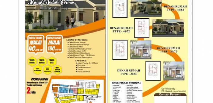 Denah Rumah Minimalis 3 Kamar Tidur Tanpa Garasi rumah dijual di kembang kota bondowoso lamudi